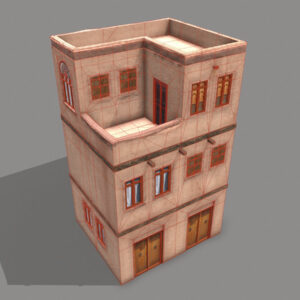 middle-eastern-old-clay-house-style3-pbr-3d-model-physically-based-rendering-wireframe-3