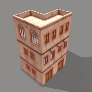 middle-eastern-old-clay-house-style3-pbr-3d-model-physically-based-rendering-wireframe-4