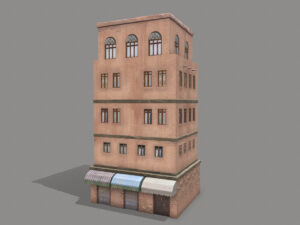 Middle Eastern Old Clay House Style4 PBR 3D Model