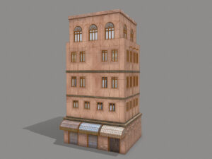 middle-eastern-old-clay-house-style4-pbr-3d-model-physically-based-rendering-wireframe-1