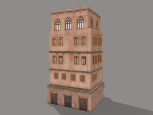 middle-eastern-old-clay-house-style4-pbr-3d-model-physically-based-rendering-wireframe-2