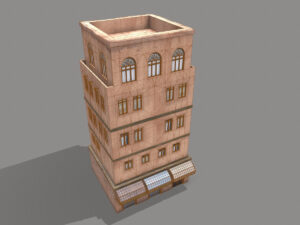 middle-eastern-old-clay-house-style4-pbr-3d-model-physically-based-rendering-wireframe-3