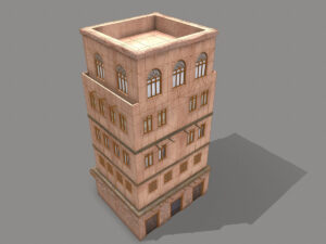 middle-eastern-old-clay-house-style4-pbr-3d-model-physically-based-rendering-wireframe-4